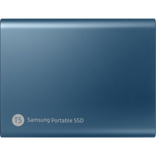 Samsung 500GB T5 Portable Solid-State Drive (Blue)